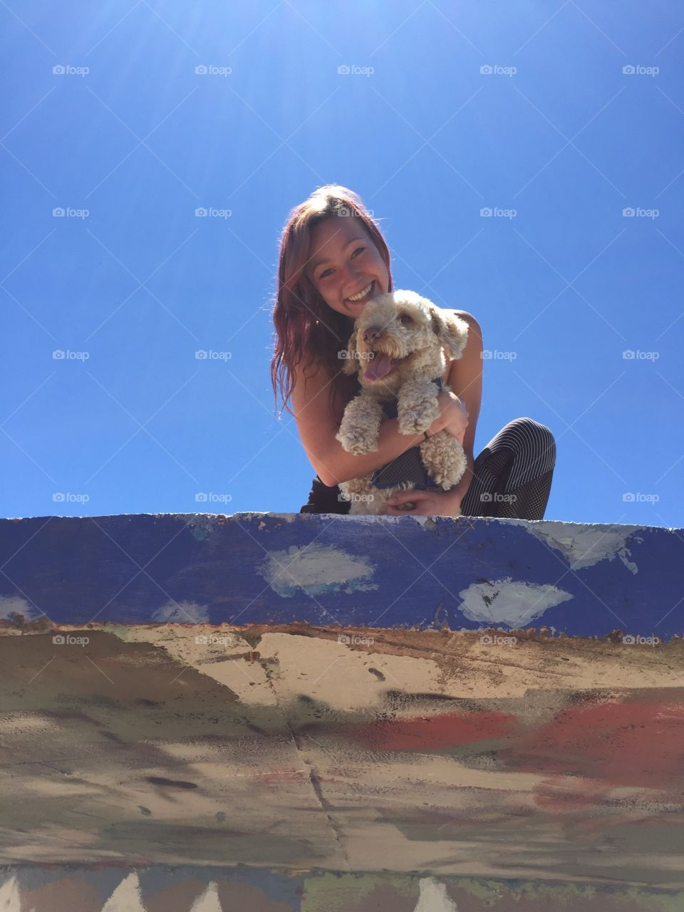 My pup and me