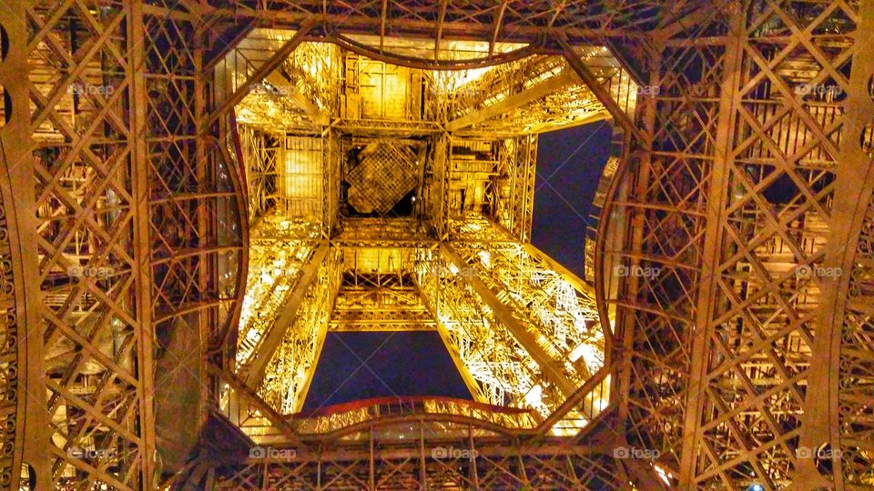 Eiffel tower view from bottom