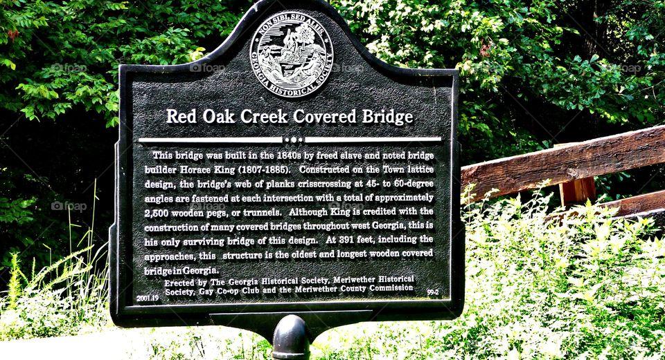 covered bridge sign