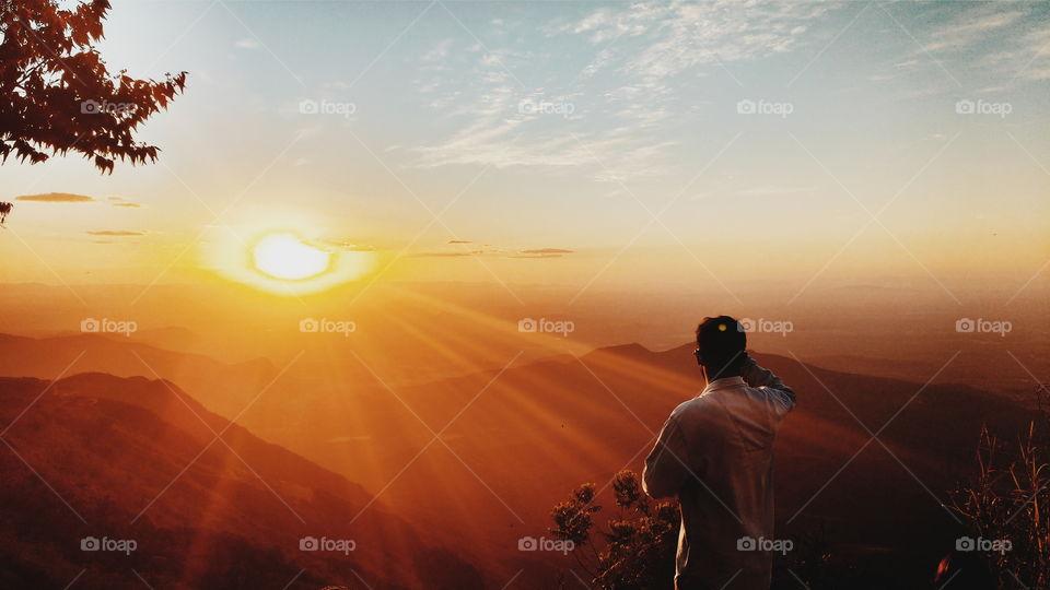 Pôr do Sol em Pico Alto, Guaramiranga - Ce.