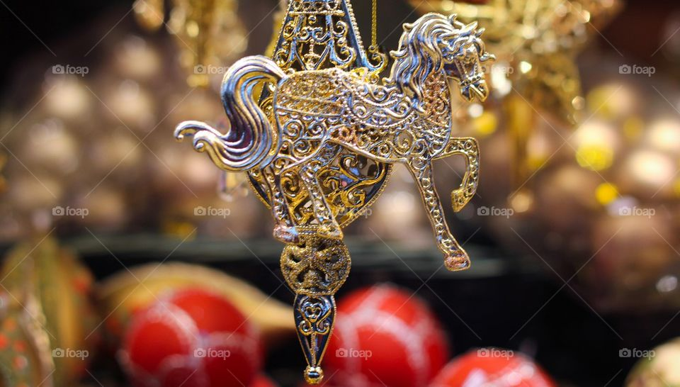 Christmas decoration horse