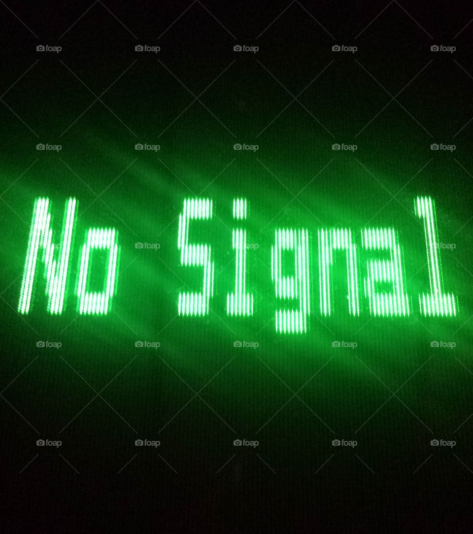 Illuminated no signal text