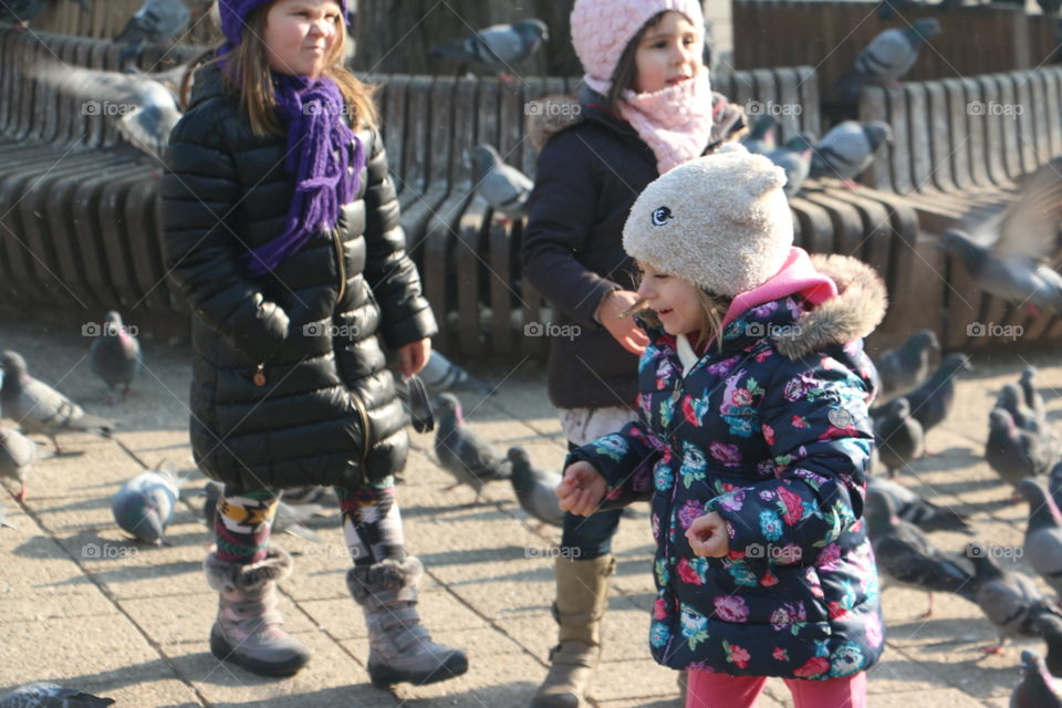 Child, People, Street, Group, Many
