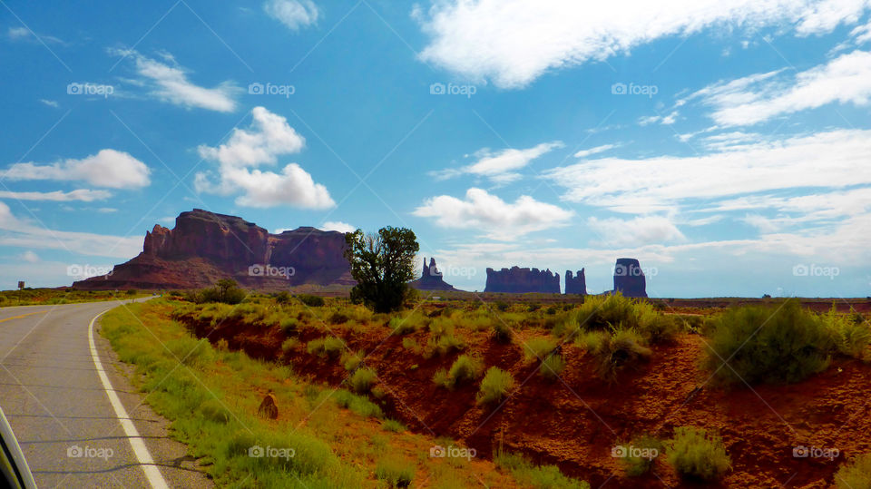 Beside the road to the Monument valley in navajo reserve