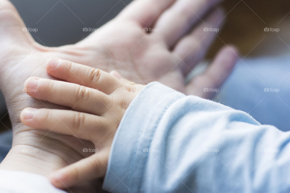 Close up of two hands