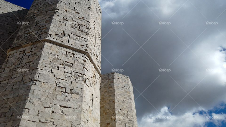 clouds over Castel del monte