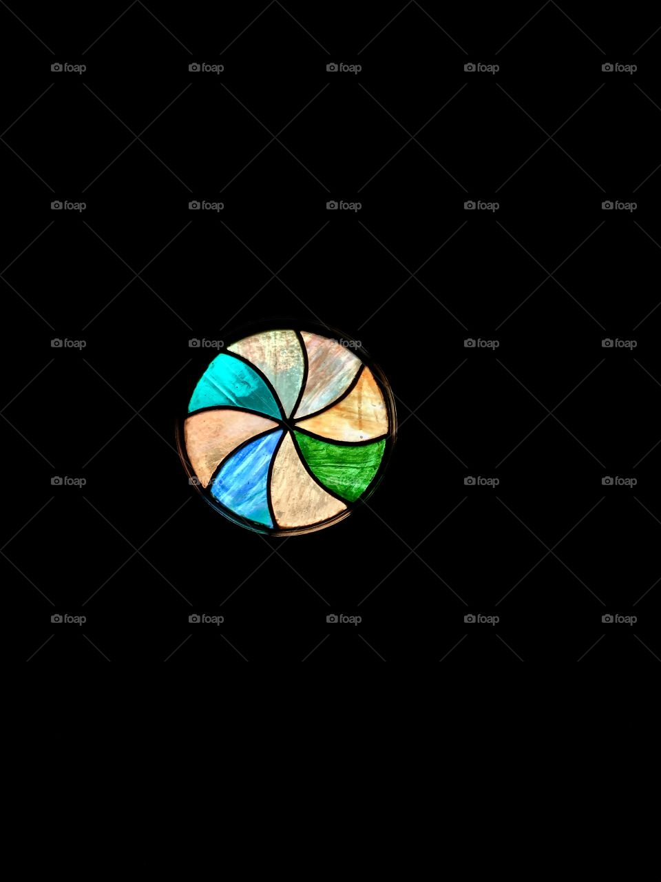 Stained Glass Window - Vintage Circle
