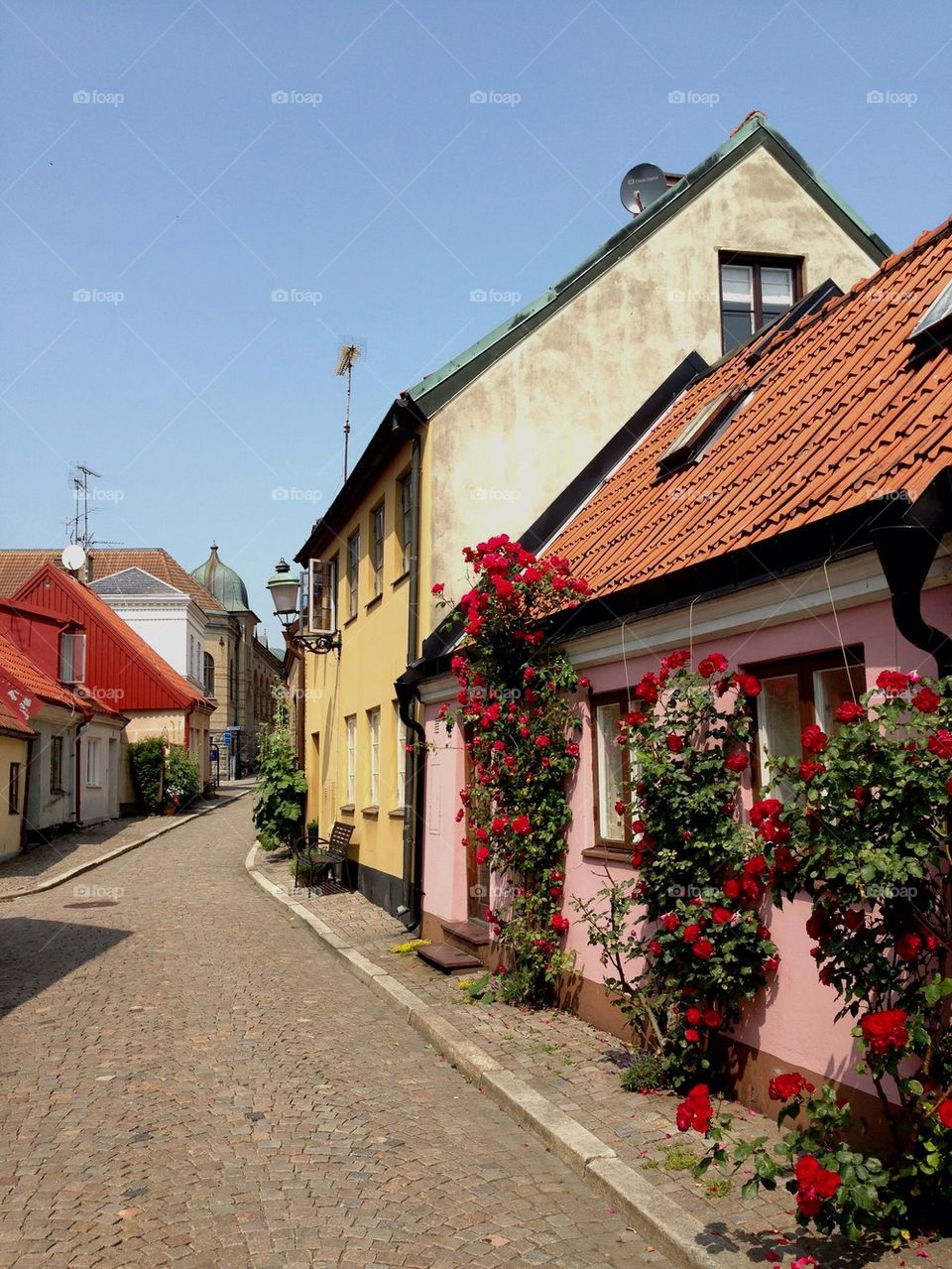 Street in Ystad.