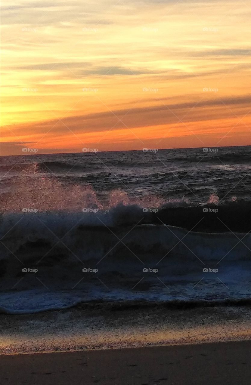 waves in the evening