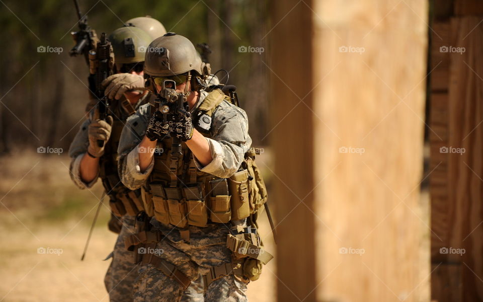 US Soldiers Training