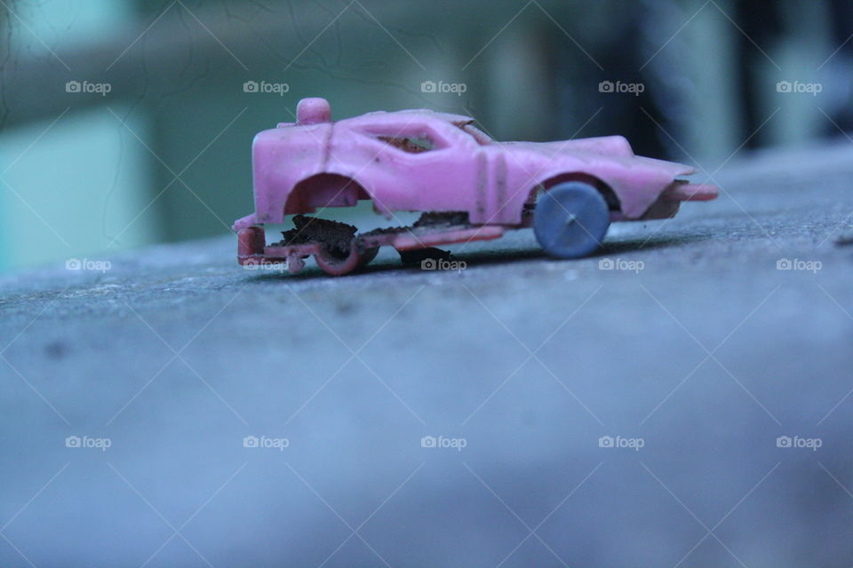 Old Childhood Toy car.