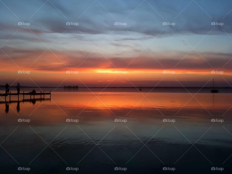 ocean sunset sun water by dryair