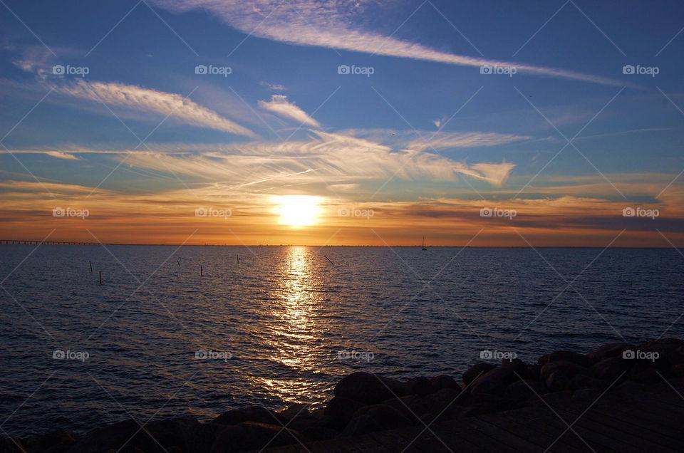 Sunset Malmö Sweden