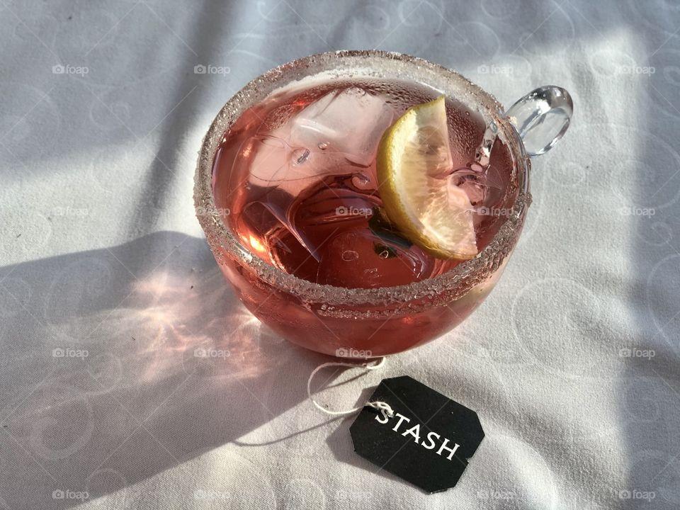 Pink Stash iced tea