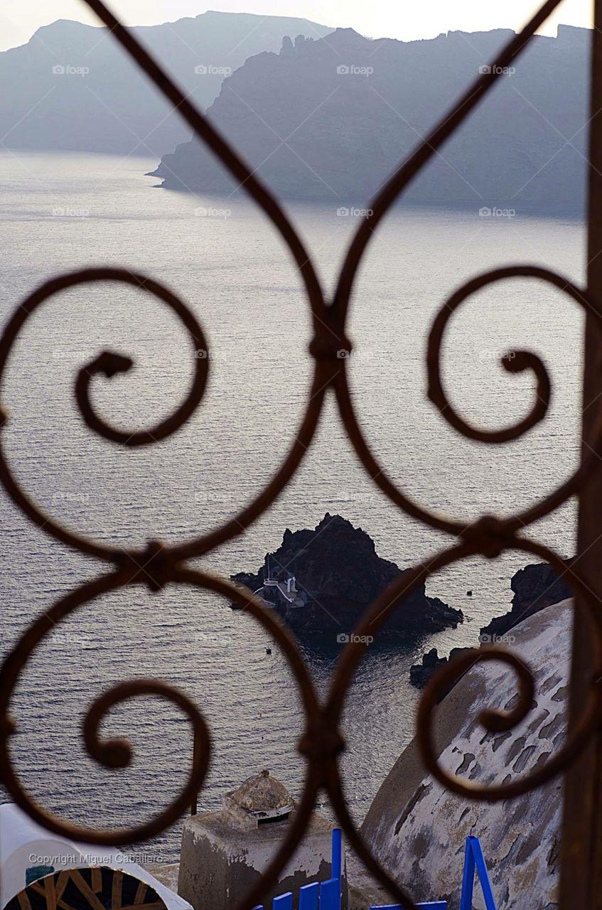 Wonderful views of Santorini Greece.