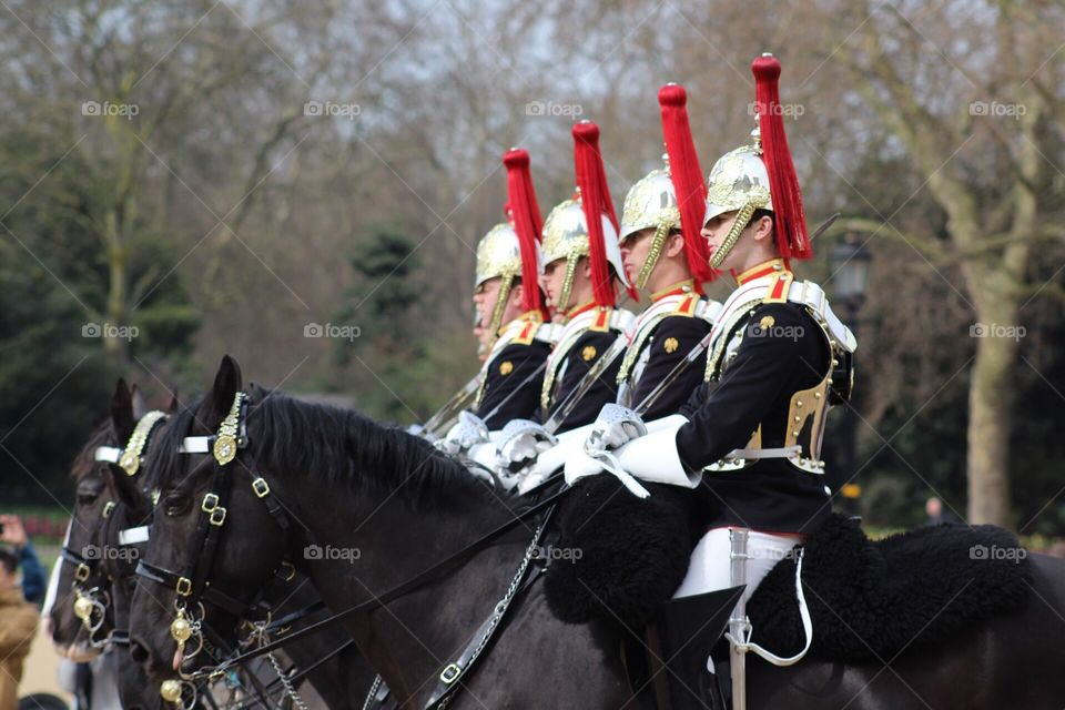 Changing of the guard in London, England