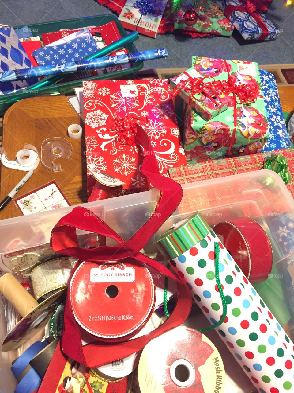 Packing Christmas Presents