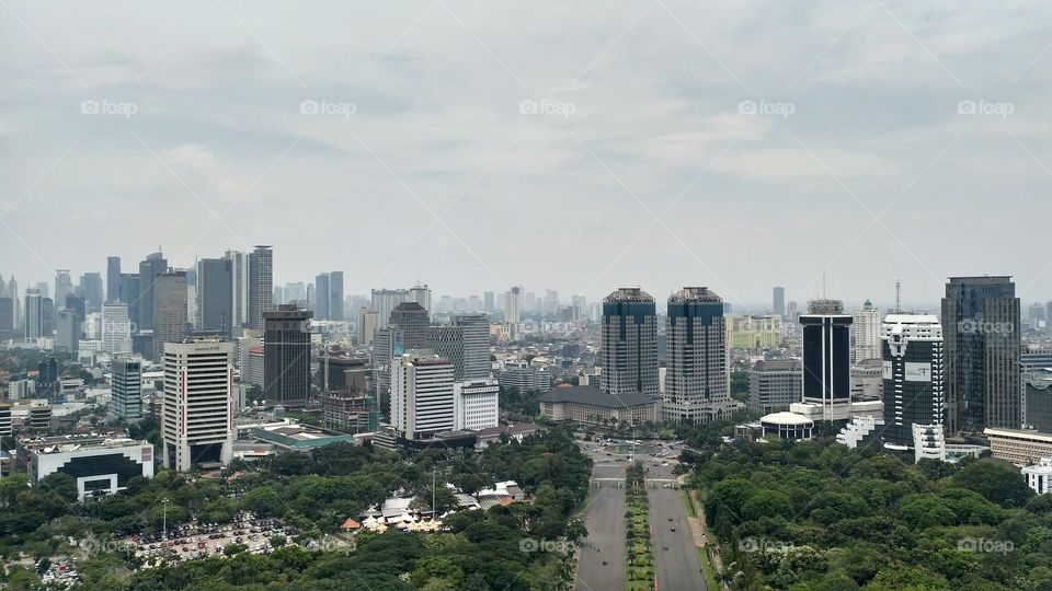 hello Jakarta - from the Top of Monas building
