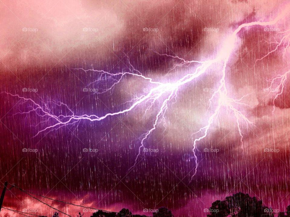 Spectacular lightning. Spectacular lightning