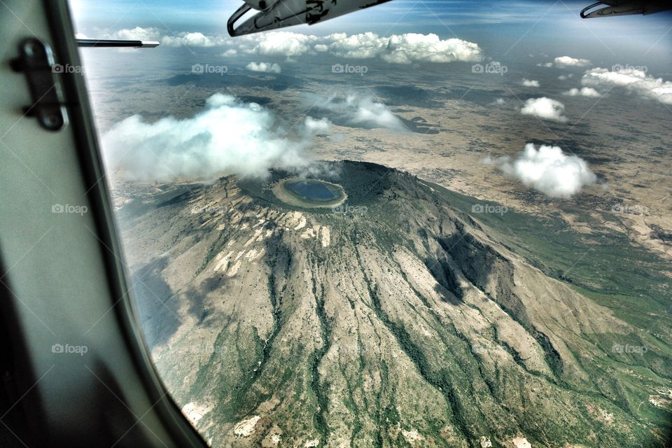 Aerial view of Rift Valley Extinct Volcano
