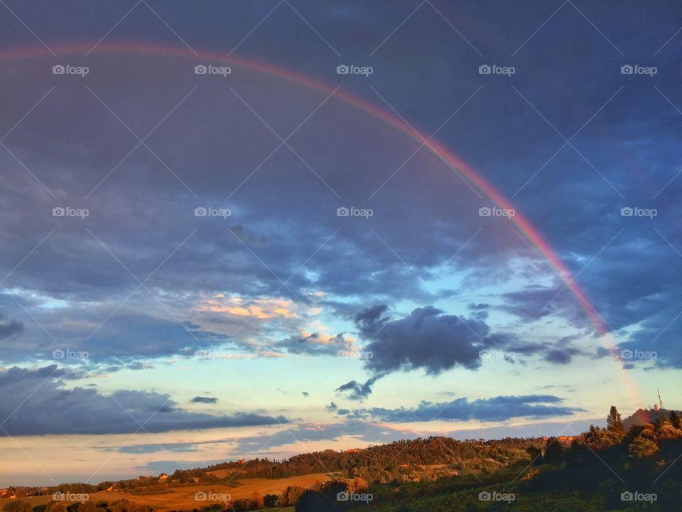Rainbow on clouds