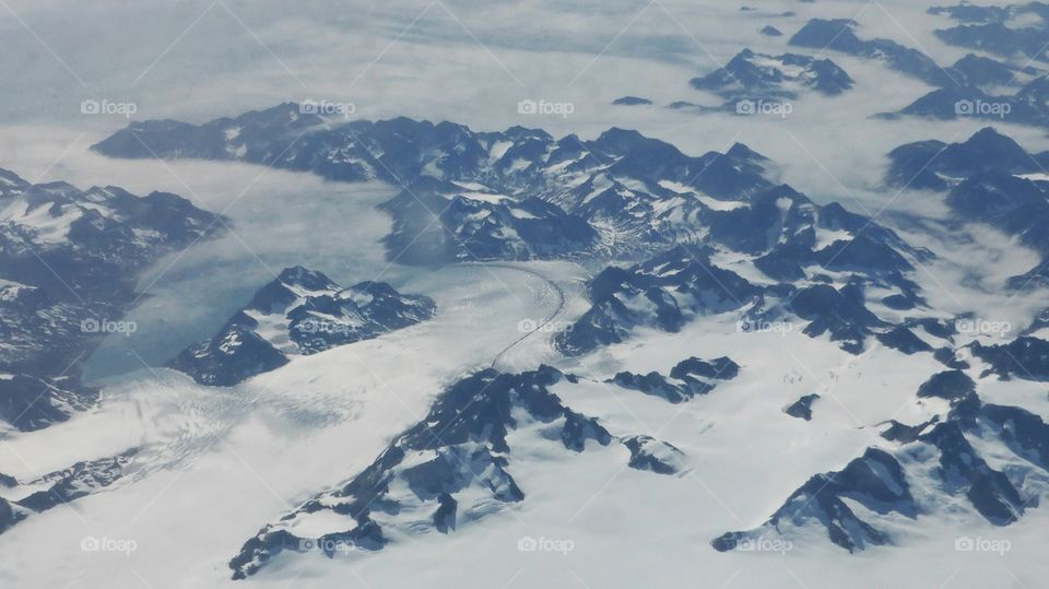 Rivers made of ice in Greenland