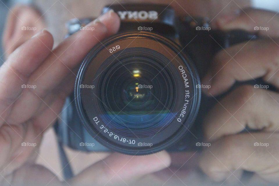 my camera reflection