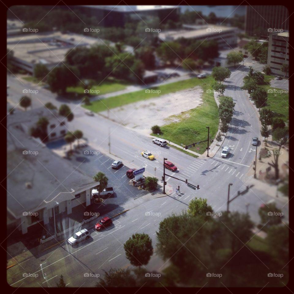City Streets. Looks like miniature street scape