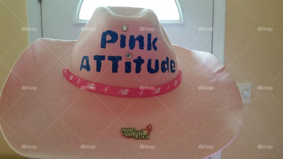 Pink Attitude hat