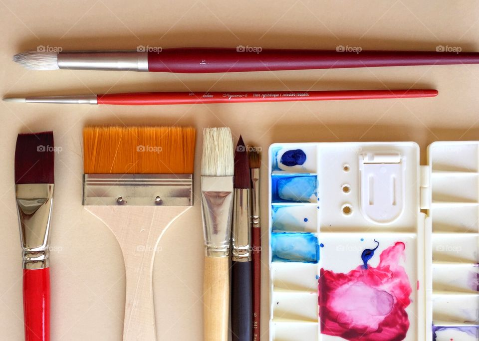 Artist Supplies and Brushes