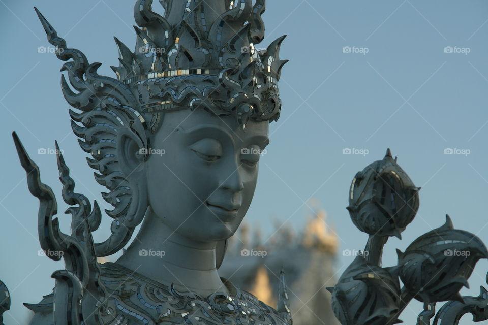 White temple goddess