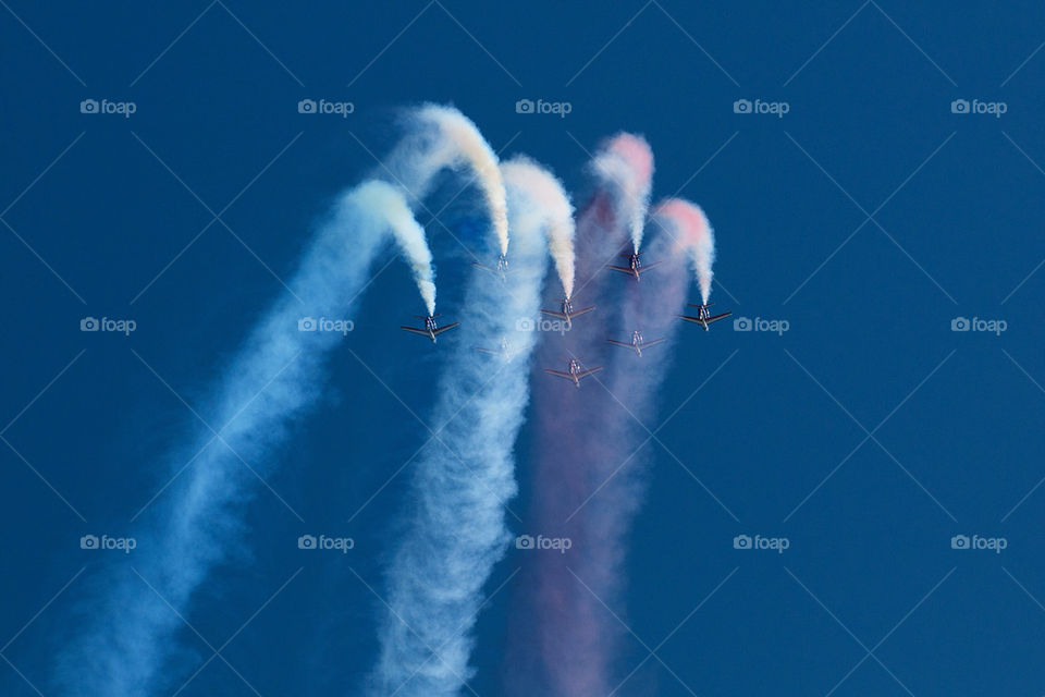 sky blue red white by marcografo