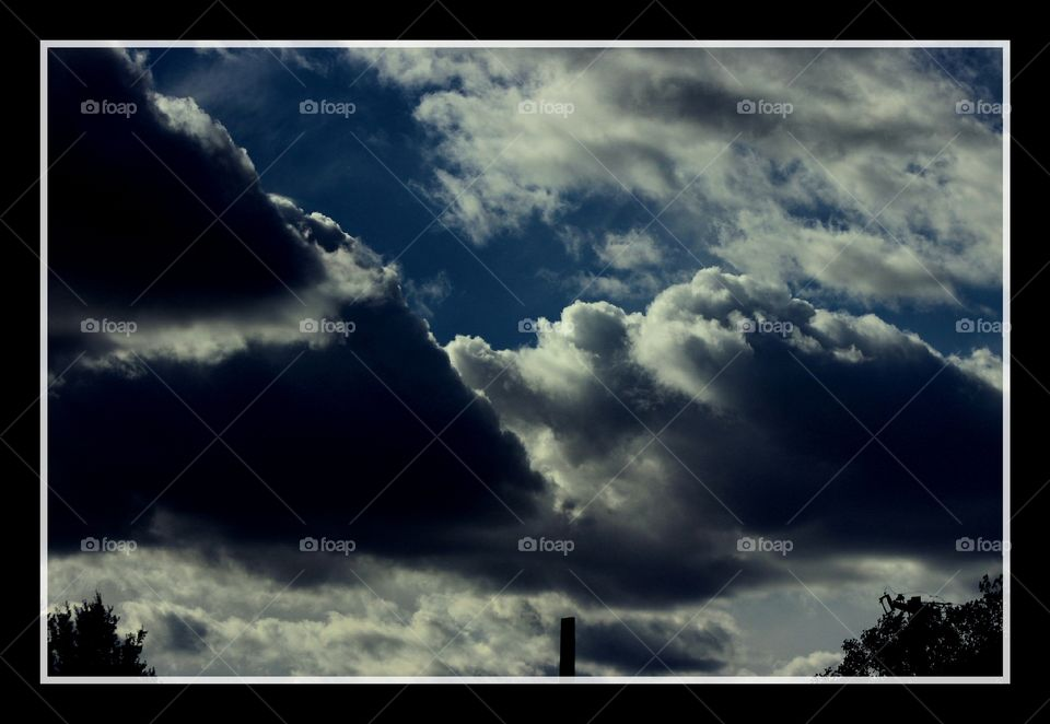 silver lined clouds
