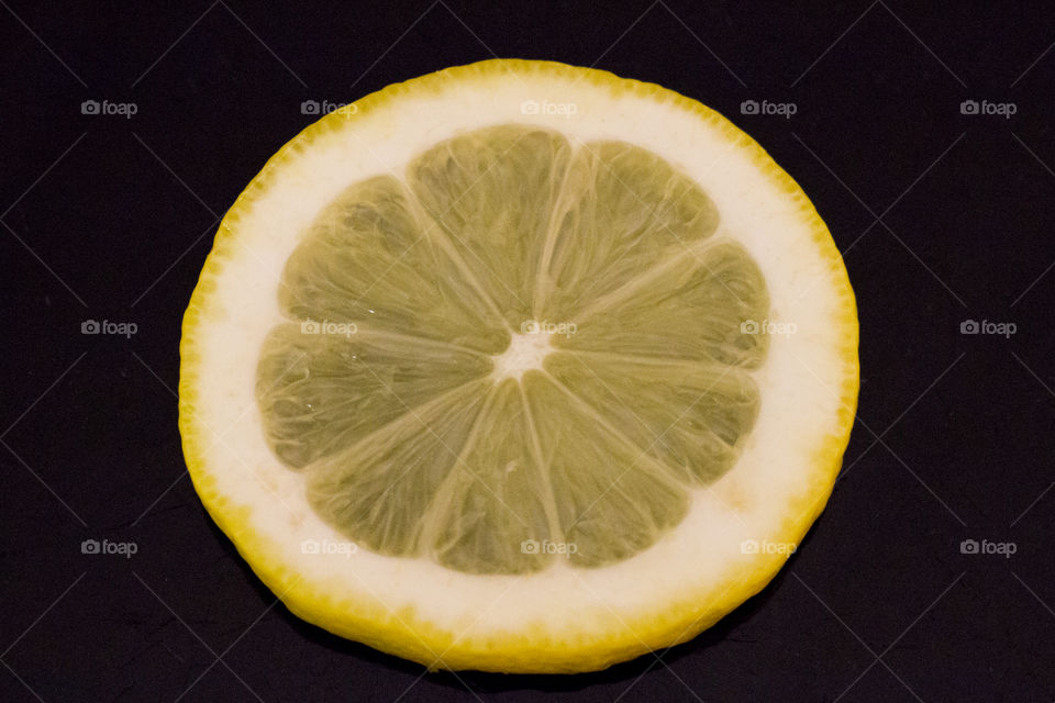 Yellow lemon slice