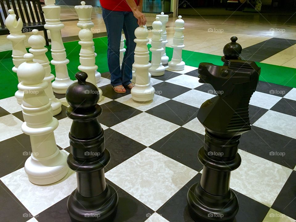 Life size chess board