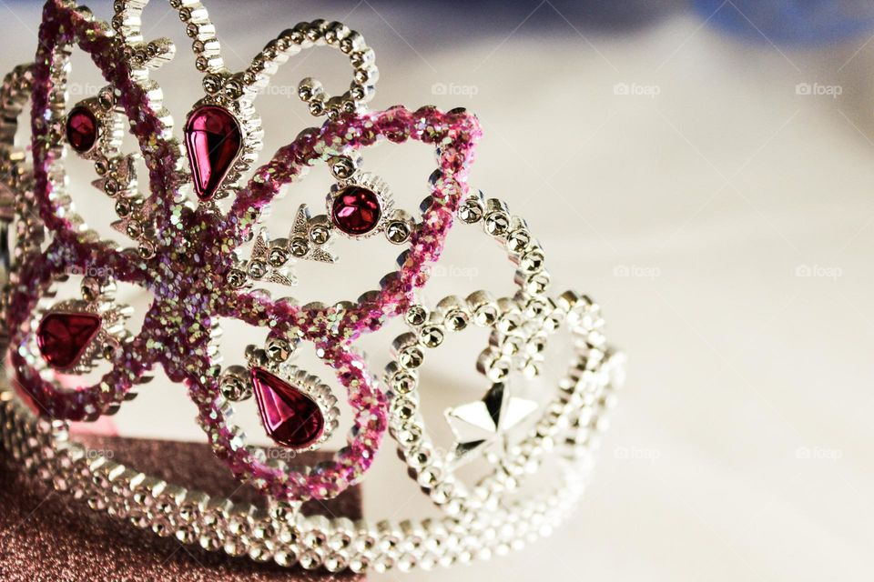 princess crown girl pink glitter