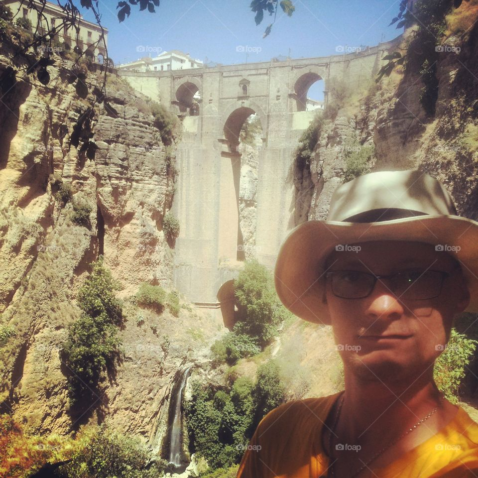 An adventure Time in Ronda. photo taken in Ronda (Spain) but looks like it is an ancient place:)