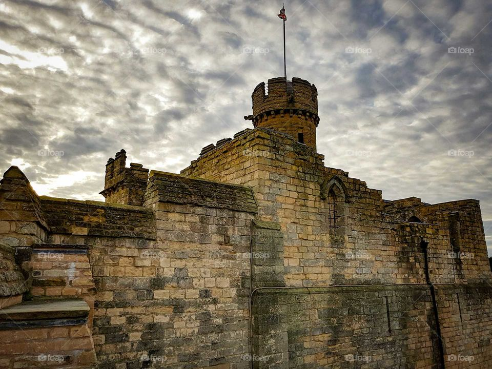 Lincoln castle England architecture history medieval.