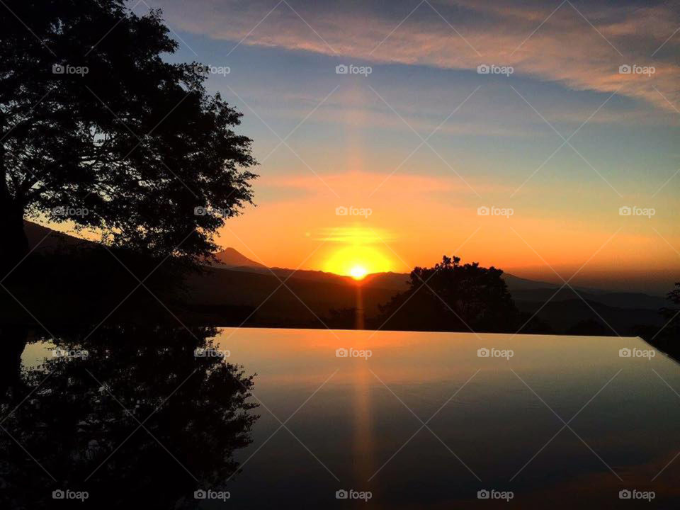 sunset in antigua Guatemala