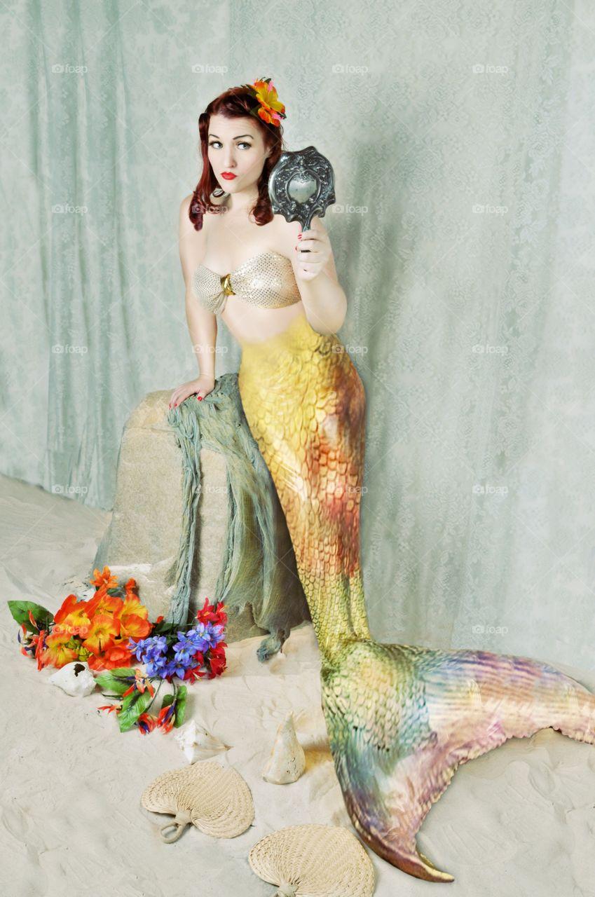 Portrait of beautiful mermaid