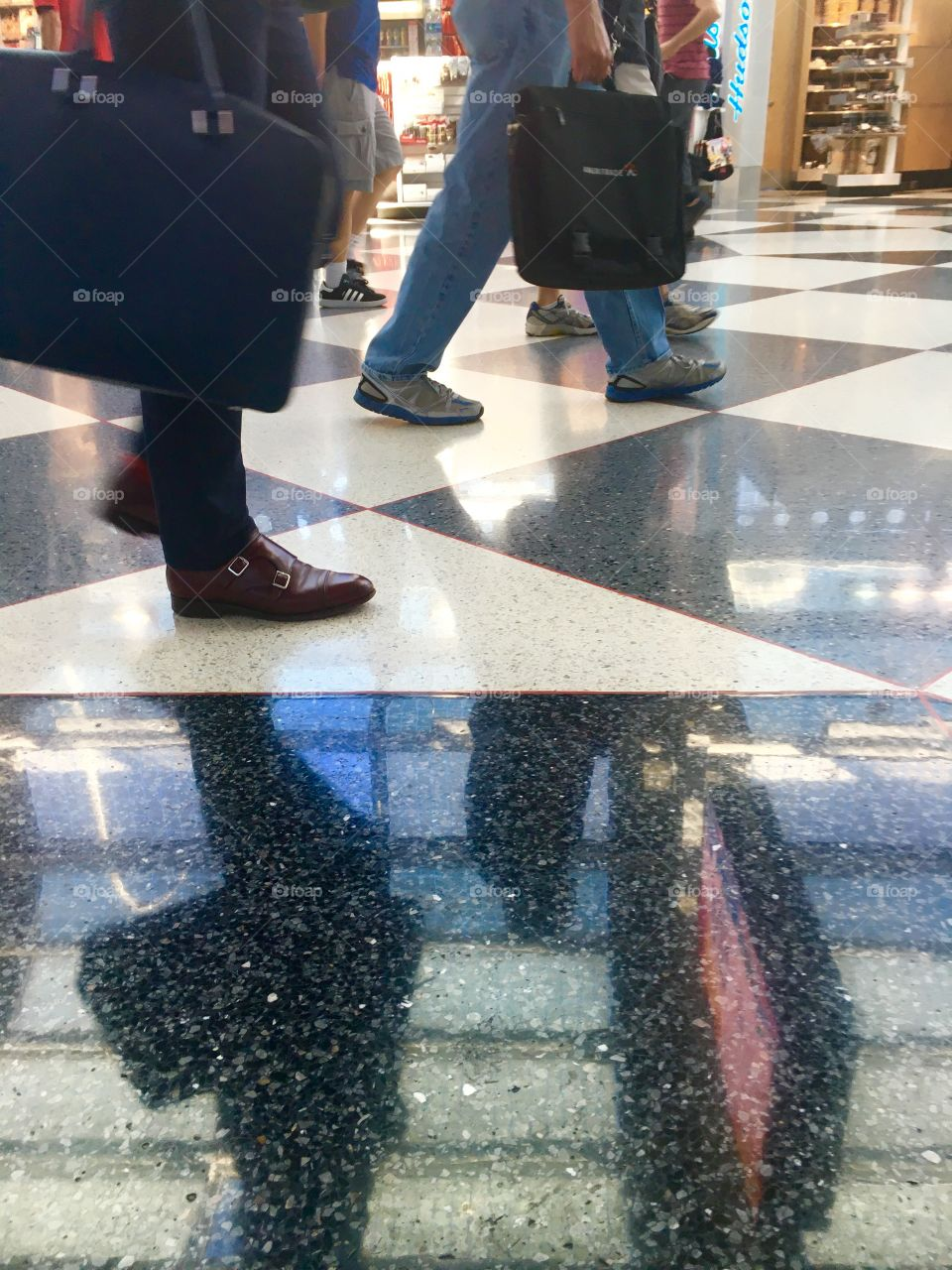 Airport scuffle