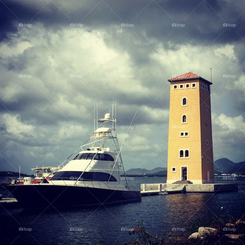 Ship In Harbor, Ready To Set Sail, Early Morning Ship Docking, Island Life, St. Maarten Ships