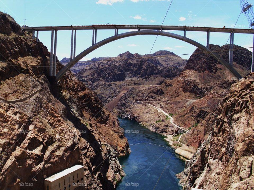 Hoover dam. Visit to Las Vegas