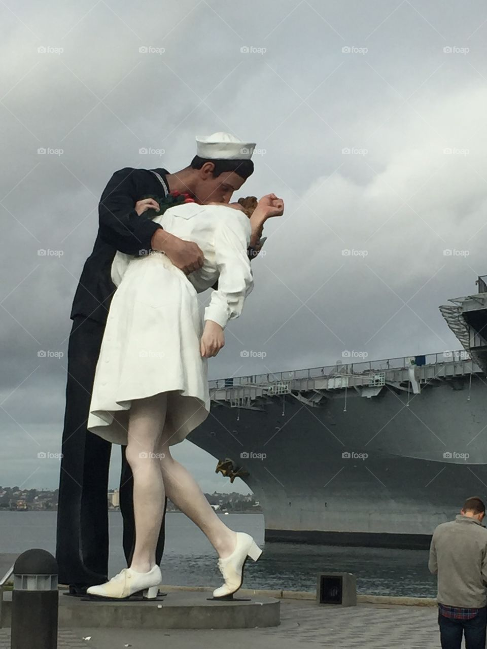 Famous Kiss. USS Midway. San Diego