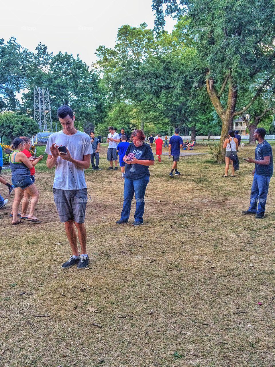 People enjoying in park