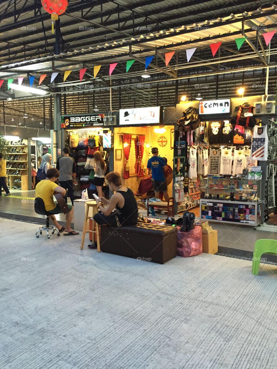 Shops in Hat Yai Thailand. Taken on 18 April 2015