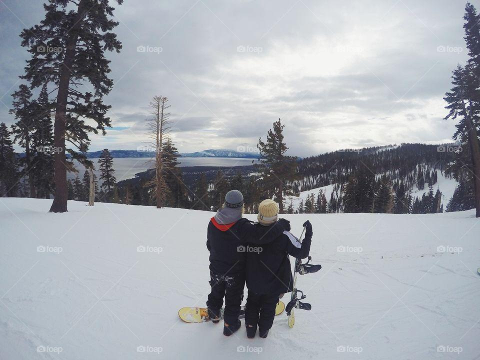 Shredding in Lake Tahoe