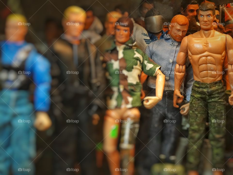 Plastic Male Dolls. Creepy Collection Of Male Action Figures