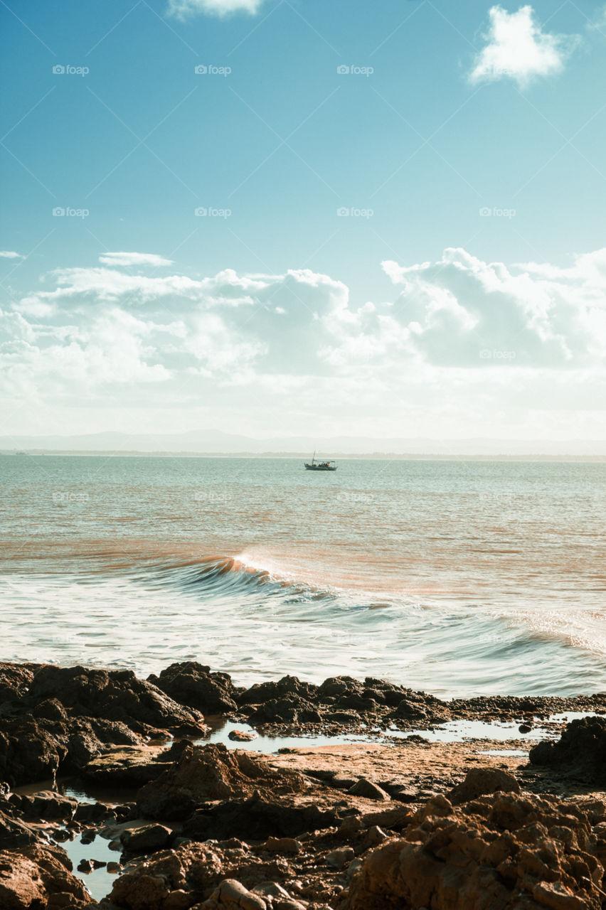 Praia Mar e Barco