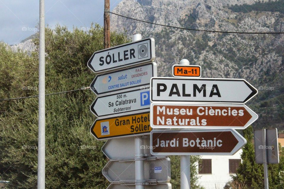 Street signs. our trip to spain